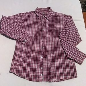 Boys Urban Pipeline red/blue button down size Med